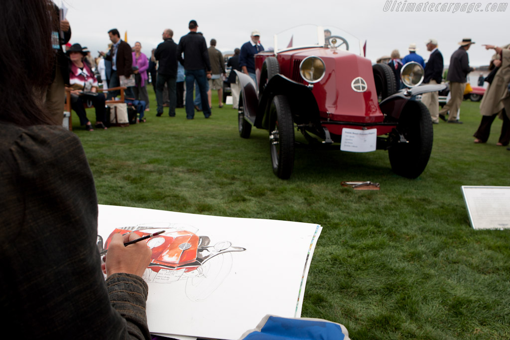 Artist at work    - 2010 Pebble Beach Concours d'Elegance