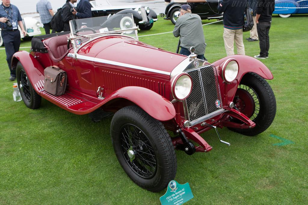Alfa Romeo 6C 1750 GS Zagato Spider - Chassis: 10814313 - Entrant: Lopresto Collection - 2012 Pebble Beach Concours d'Elegance