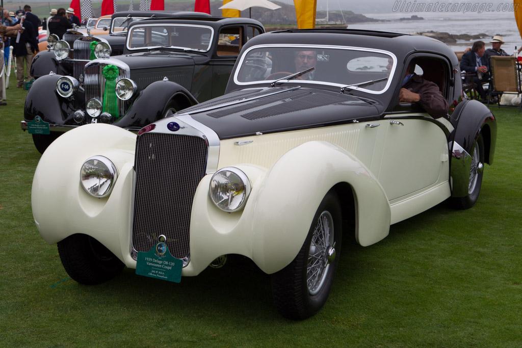 Delage D8 120 Vanvooren Coupe - Chassis: 51618 - Entrant: John W. Rich Jr.  - 2013 Pebble Beach Concours d'Elegance