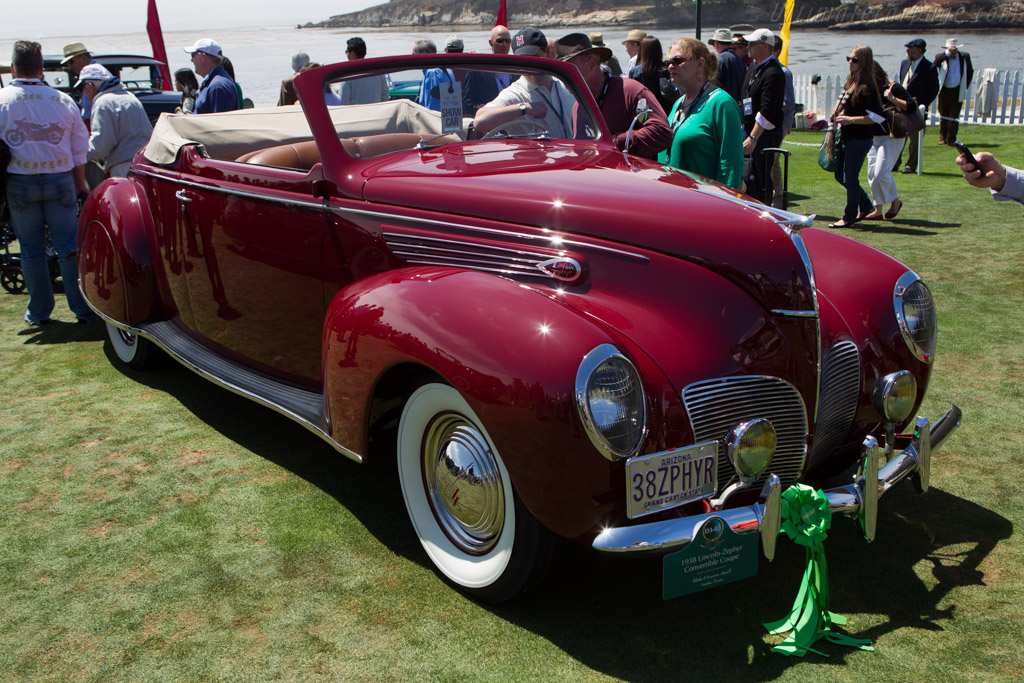 Lincoln Zephyr Convertible Coupe  - Entrant: Blake & Lauren Atwell  - 2013 Pebble Beach Concours d'Elegance