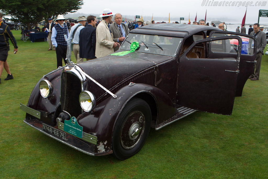 Voisin C25 Clairiere - Chassis: 50017 - Entrant: Bill & Linda Pope  - 2013 Pebble Beach Concours d'Elegance