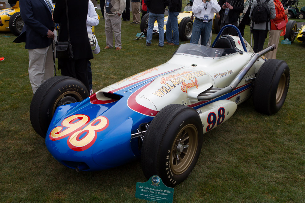 Watson Agajanan-Willard Battery Special  - Entrant: Indianapolis Motor Speedway  - 2013 Pebble Beach Concours d'Elegance