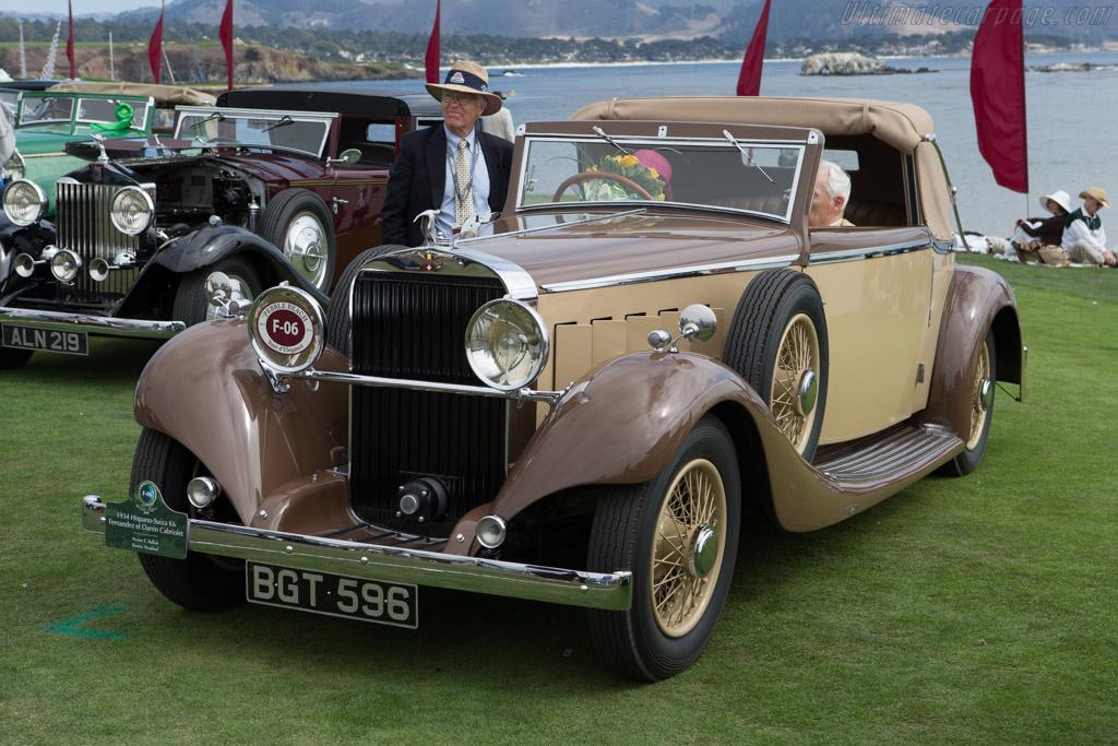 Hispano Suiza J12 Fernandez & Darrin Cabriolet  - Entrant: Robert & Sandra Bahre  - 2014 Pebble Beach Concours d'Elegance