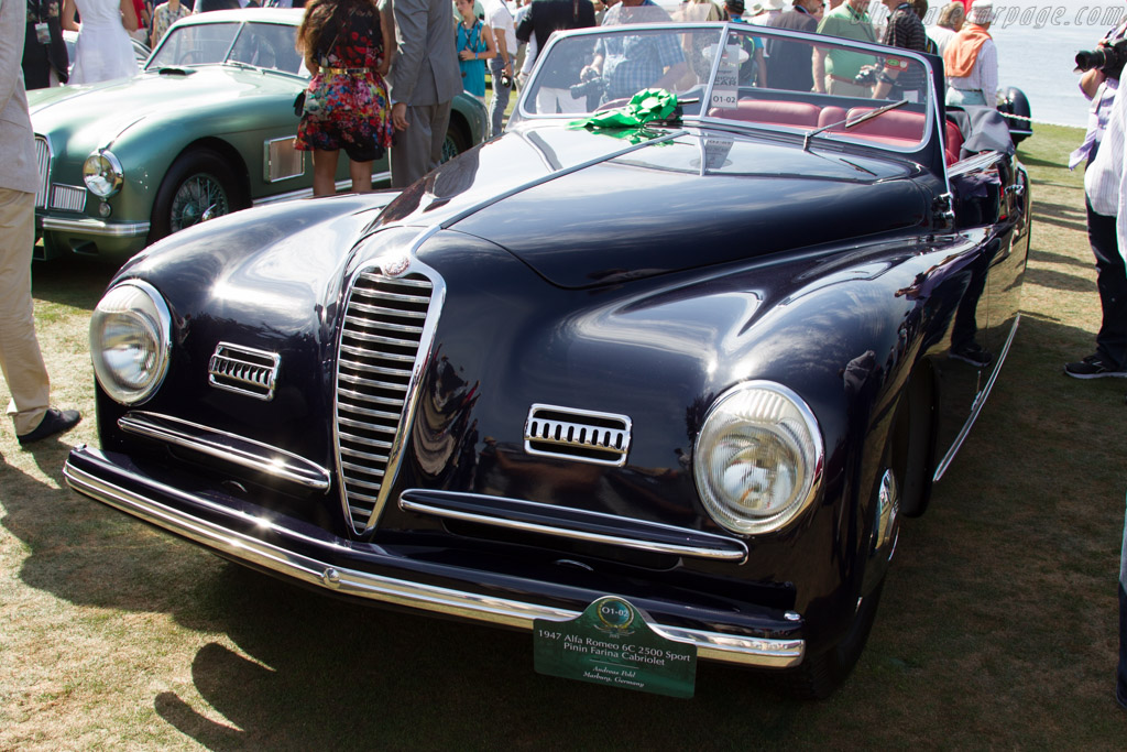 Alfa Romeo 6C 2500 S Pinin Farina Cabriolet - Chassis: 915325 - Entrant: Andreas Pohl  - 2015 Pebble Beach Concours d'Elegance
