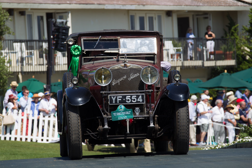 Hispano Suiza Type 49 Mulliner Sport Saloon - Chassis: 7874 - Entrant: Dr. Mario Gastaldi  - 2015 Pebble Beach Concours d'Elegance