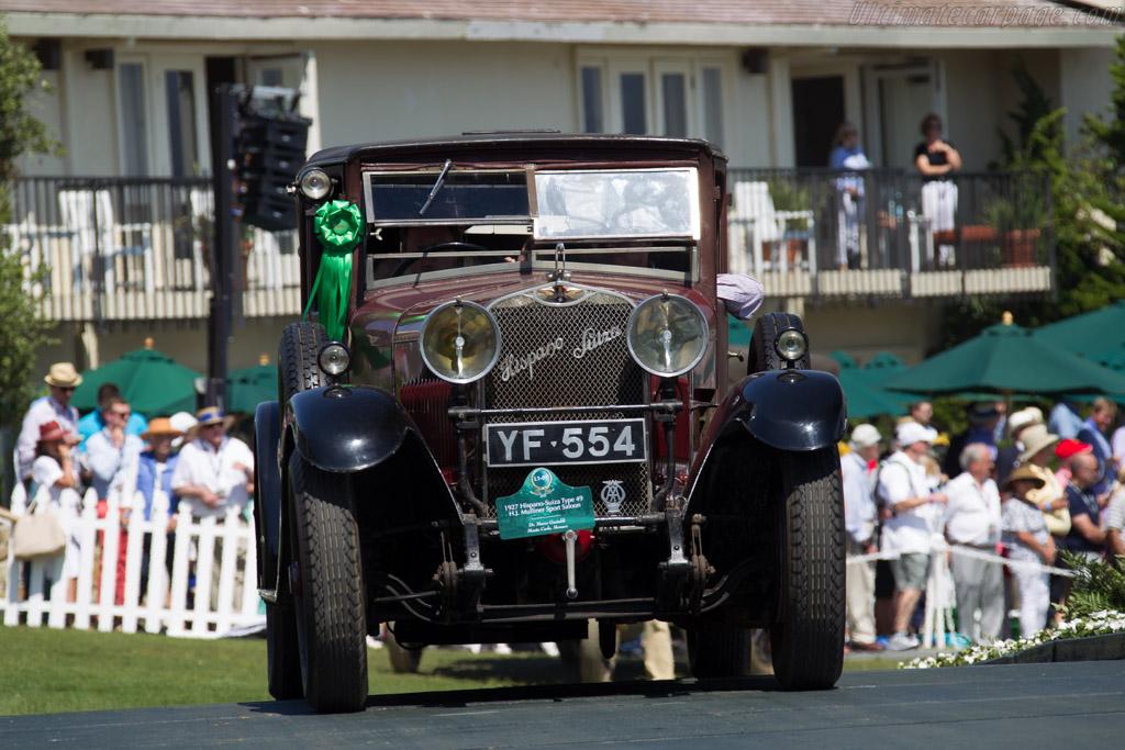 Hispano Suiza Type 49 Mulliner Sport Saloon - Chassis: 7874 - Entrant: Dr. Mario Gastaldi  - 2015 Pebble Beach Concours d'Elegance