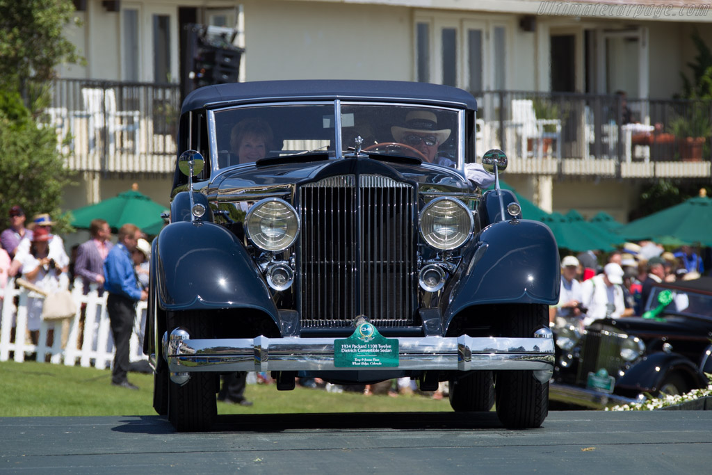 Packard 1108 Twelve Dietrich Convertible Sedan  - Entrant: Tony & Jonna Ficco  - 2015 Pebble Beach Concours d'Elegance