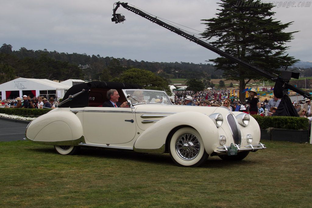 Delahaye 135 M Figoni & Falaschi Cabriolet - Chassis: 800998 - Entrant: Ed & Caroll Windfelder  - 2016 Pebble Beach Concours d'Elegance