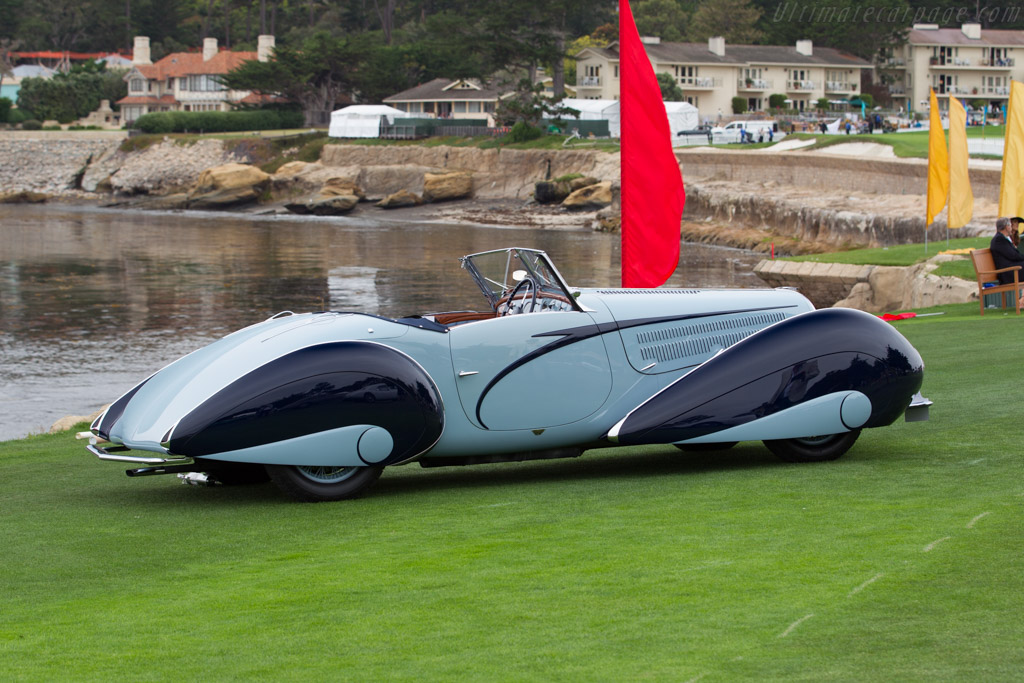 Delahaye 135 M Figoni & Falaschi Cabriolet - Chassis: 49150 - Entrant: Merle & Peter Mullin  - 2016 Pebble Beach Concours d'Elegance