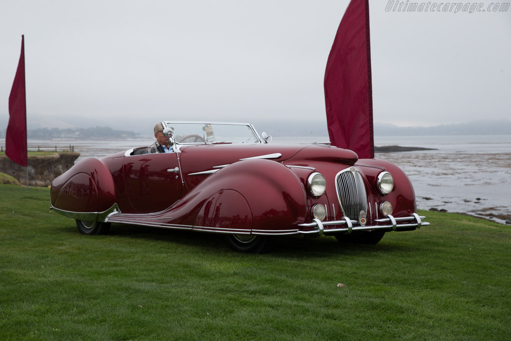 Delahaye 135 MS Figoni & Falaschi Narval Cabriolet - Chassis: 800580 - Entrant: Roger Willbanks  - 2016 Pebble Beach Concours d'Elegance