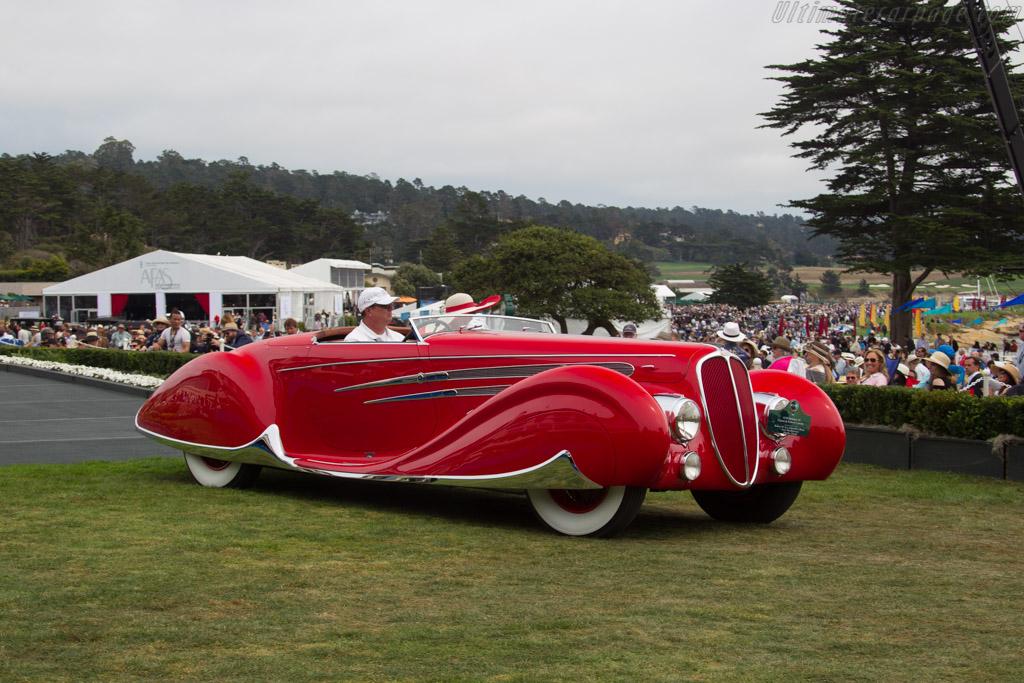 Delahaye 165 Figoni & Falschi Cabriolet - Chassis: 60743 - Entrant: Anne Brockington Lee/Robert M. Lee Collection  - 2016 Pebble Beach Concours d'Elegance