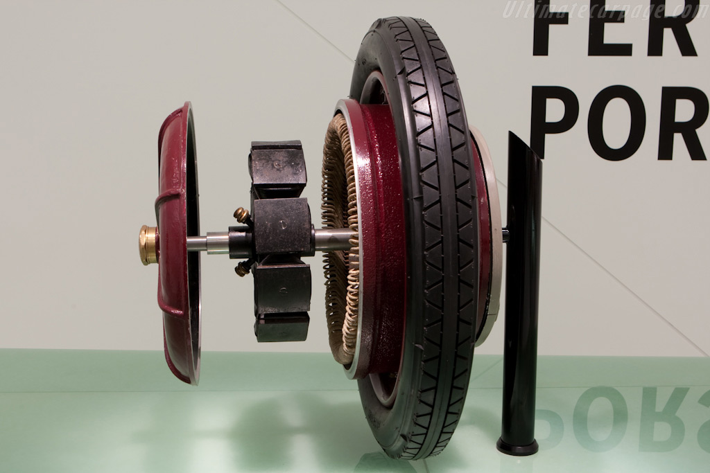 Lohner-Porsche wheel    - Porsche Museum Visit
