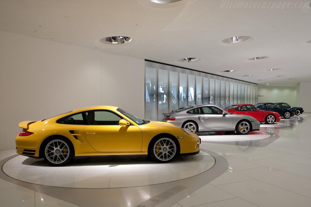 Porsche 911 Turbos    - Porsche Museum Visit