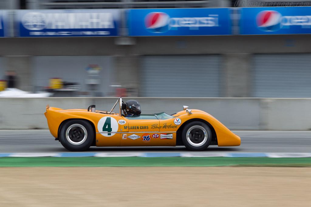 McLaren M6A Chevrolet - Chassis: M6A/1 - Driver: Richard Griot  - 2014 Monterey Motorsports Reunion