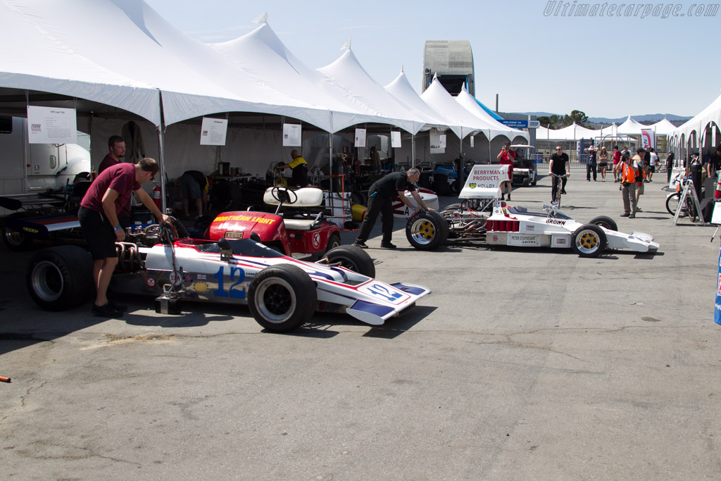 F5000 paddock    - 2015 Monterey Motorsports Reunion