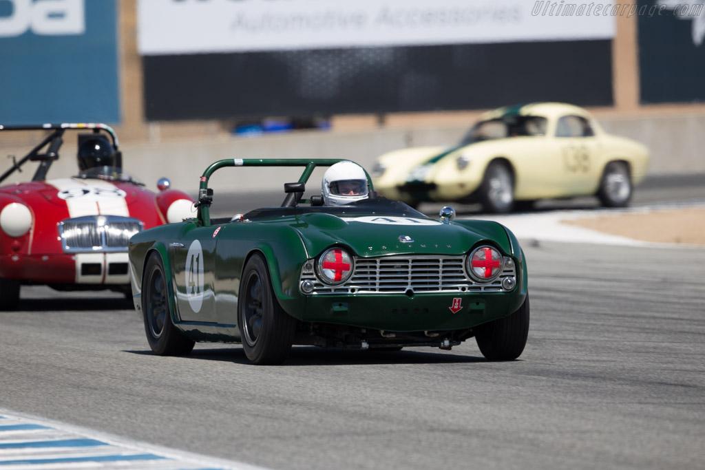 Triumph TR4  - Driver: Jon Gannaway  - 2016 Monterey Motorsports Reunion
