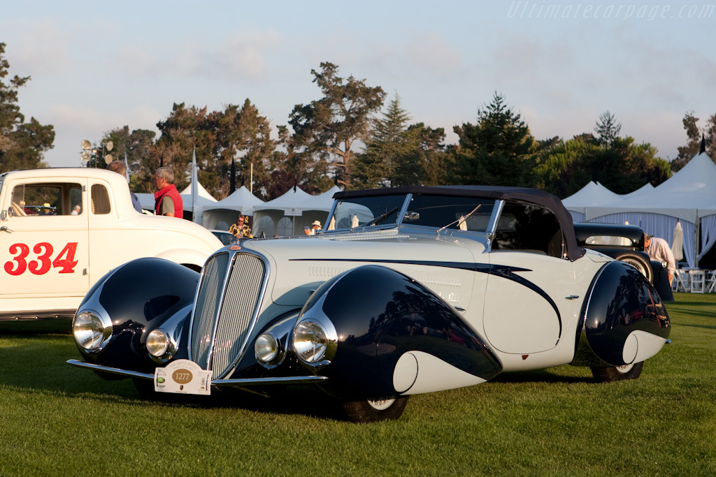 Delahaye 135 M Figoni & Falaschi Cabriolet - Chassis: 49150 - Entrant: Peter & Merle Mullin  - 2009 The Quail, a Motorsports Gathering