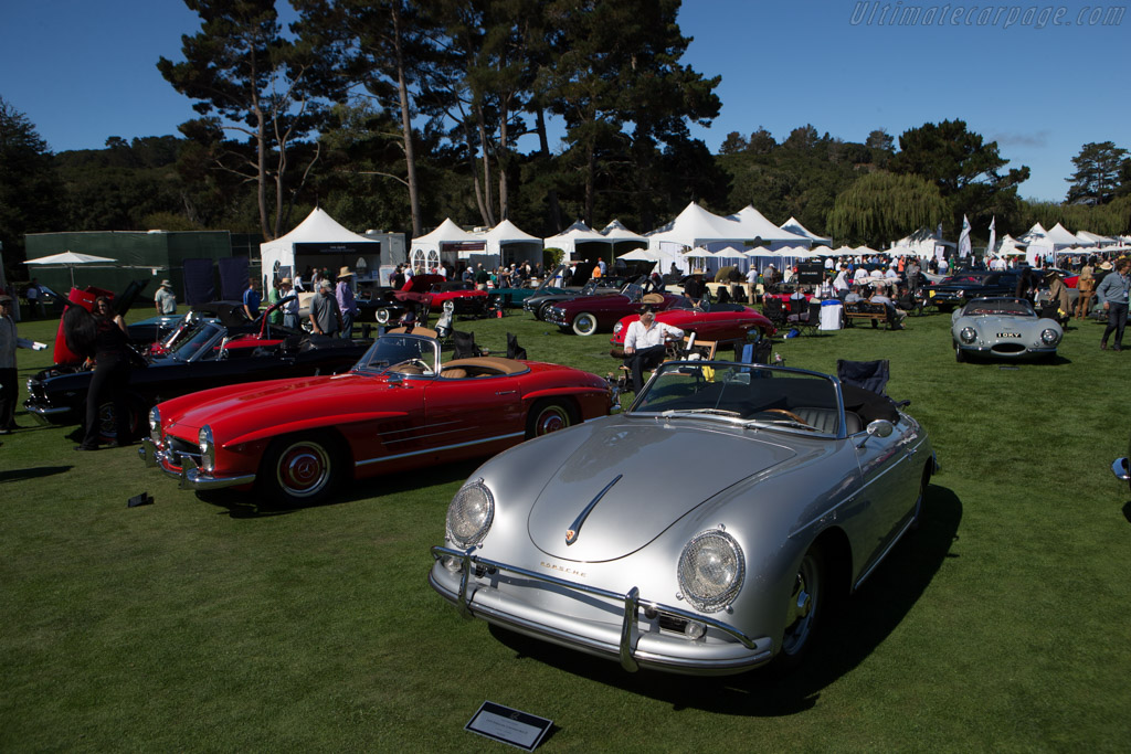 Porsche 356 Convertible D  - Entrant: Len Cheney  - 2014 The Quail, a Motorsports Gathering