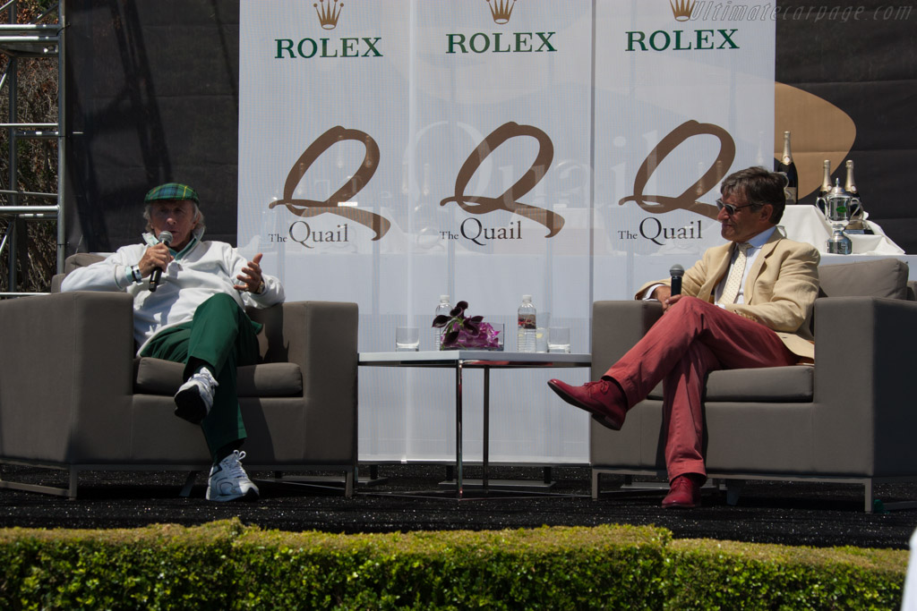 Sir Jackie Stewart and Alain de Cadenet    - 2014 The Quail, a Motorsports Gathering