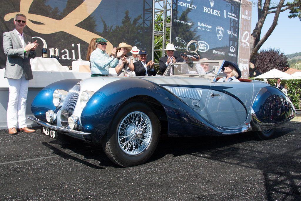 Talbot Lago T150C SS Figoni & Falaschi Roadster - Chassis: 90115 - Entrant: Gwen & Tom Price  - 2014 The Quail, a Motorsports Gathering