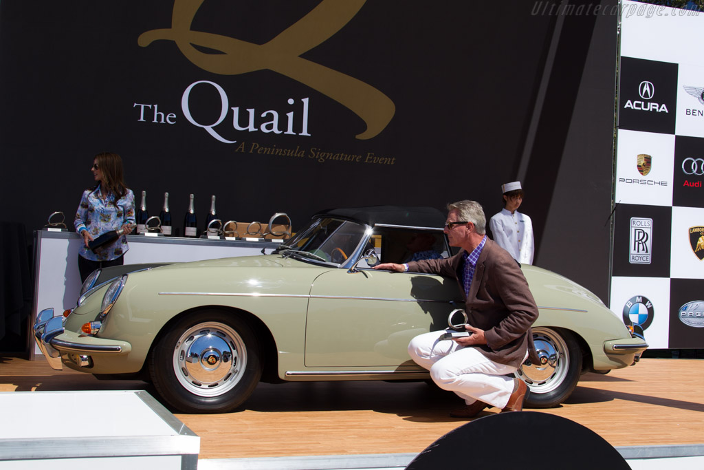 Porsche 356B T-6 Roadster - Chassis: 89627 - Entrant: Chris and Pat Roman  - 2015 The Quail, a Motorsports Gathering