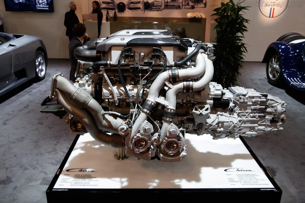 Bugatti Chiron Engine   - 2019 Retromobile