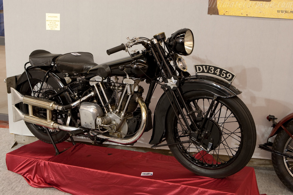 Brough Superior Black Alpine    - 2010 Retromobile