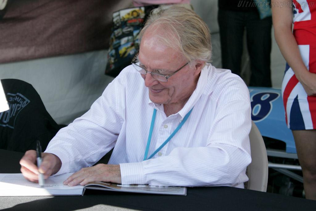 Dan Gurney signing autographs   - 2010 Monterey Motorsports Reunion
