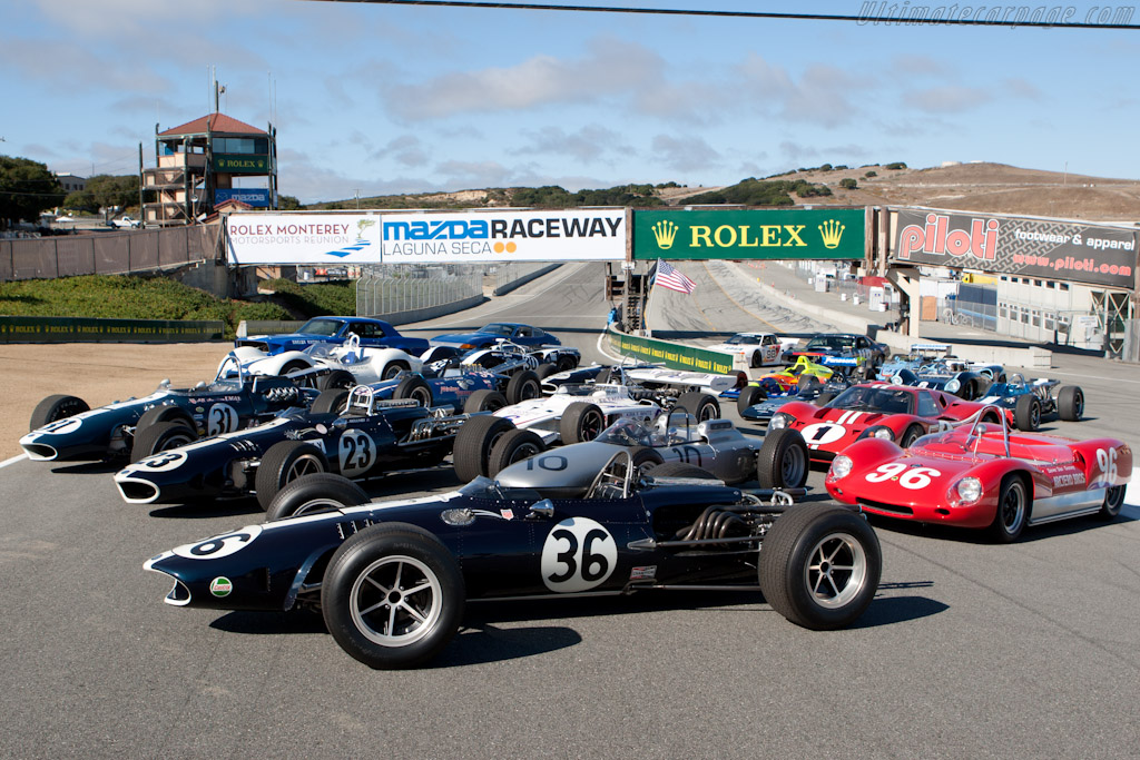 Driven and/or designed by Dan Gurney    - 2010 Monterey Motorsports Reunion