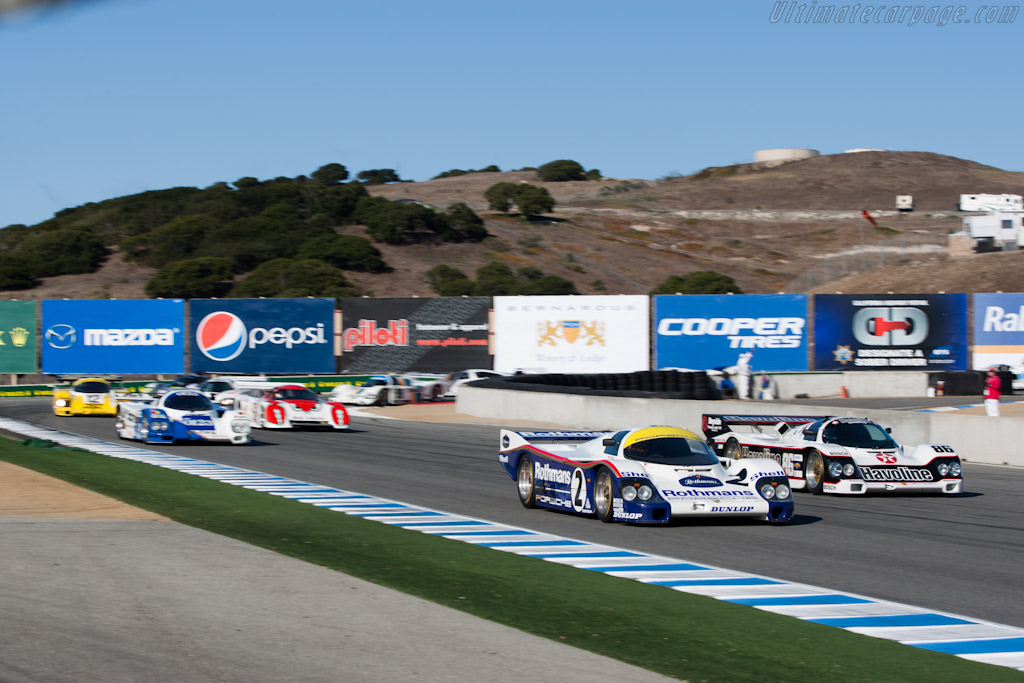 Off they go    - 2010 Monterey Motorsports Reunion