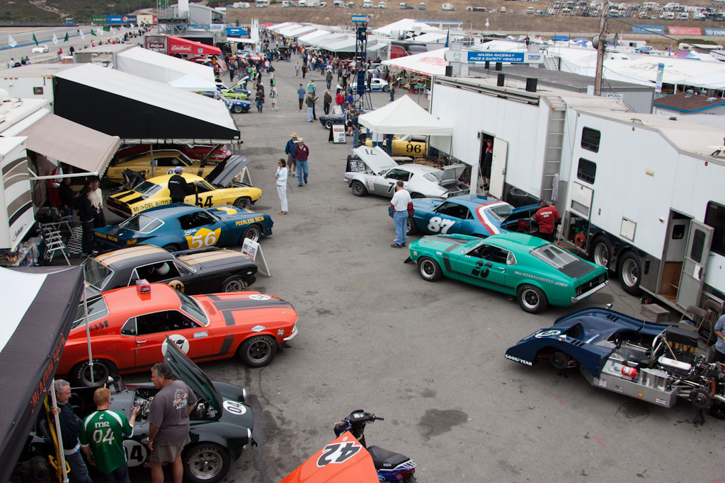 The Trans-Am Paddock    - 2011 Monterey Motorsports Reunion