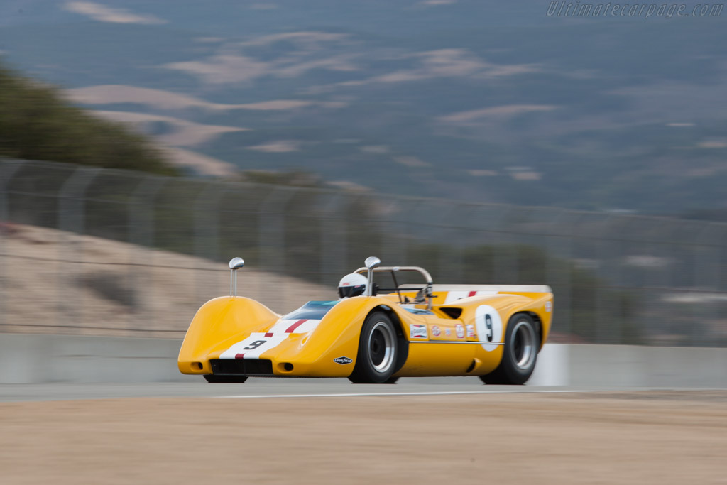 McLaren M6B Chevrolet - Chassis: 50-15 - Entrant: Bob Lee - Driver: Ilya Burkoff  - 2013 Monterey Motorsports Reunion