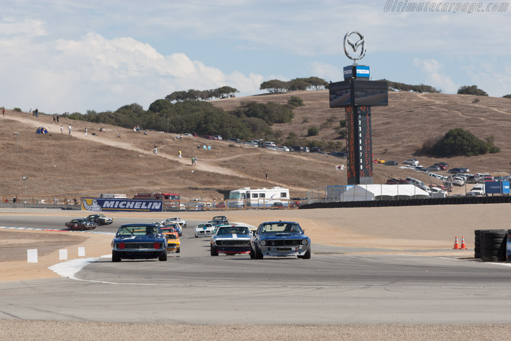 Off they go    - 2013 Monterey Motorsports Reunion