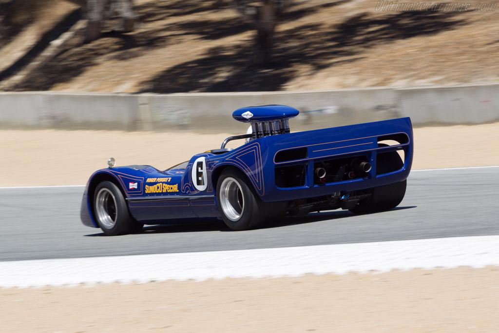 McLaren M6A Chevrolet - Chassis: M6A/3 - Driver: Brian Blain  - 2014 Monterey Motorsports Reunion