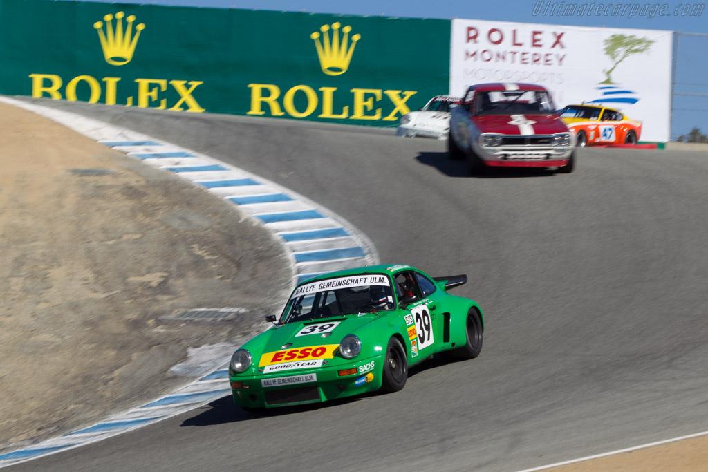 Porsche 911 Carrera RSR 3.0  - Driver: Dennis Singleton  - 2014 Monterey Motorsports Reunion