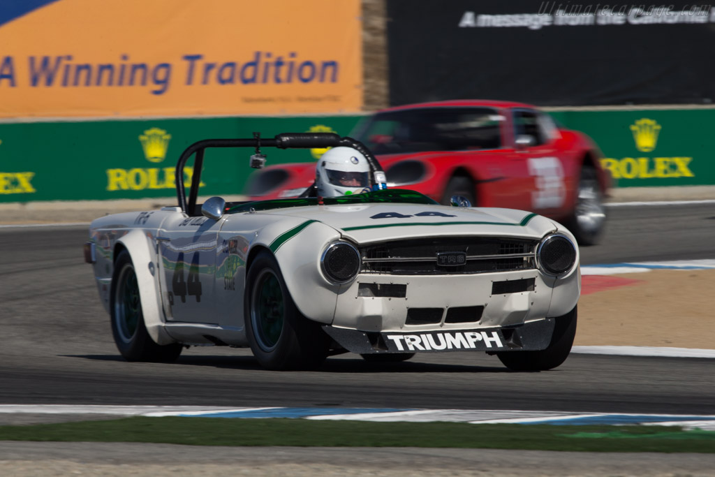 Triumph TR6 Group 44  - Driver: Bill Warner  - 2014 Monterey Motorsports Reunion