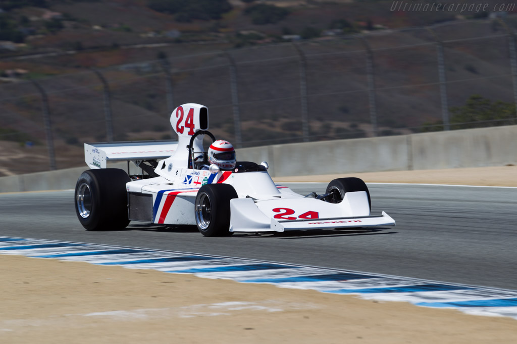 Hesketh 308  - Entrant: Fredric Fatien - Driver: Ron Maydon  - 2015 Monterey Motorsports Reunion