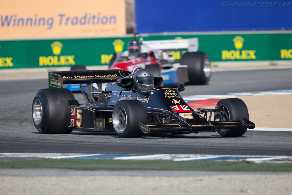Lotus 77 - Chassis: JPS14 - Driver: Chris Locke  - 2015 Monterey Motorsports Reunion