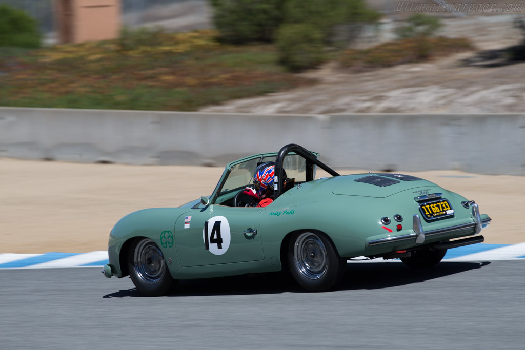 Porsche 356 America Roadster - Chassis: 12371 - Driver: Andy Prill  - 2015 Monterey Motorsports Reunion