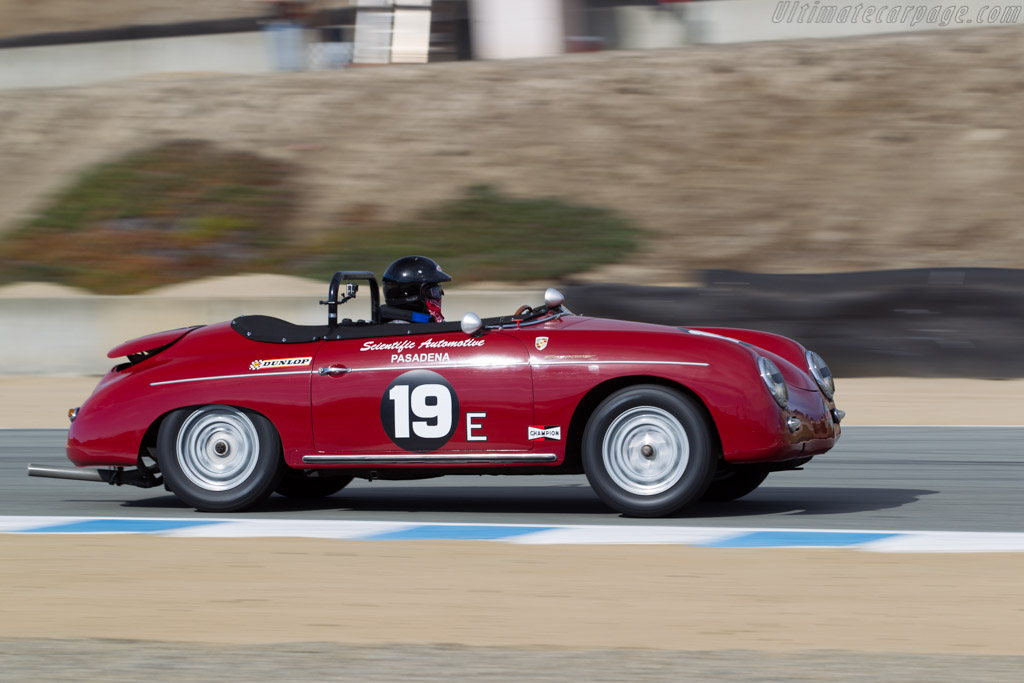 Porsche 356 Speedster  - Driver: Steve Schmidt  - 2015 Monterey Motorsports Reunion