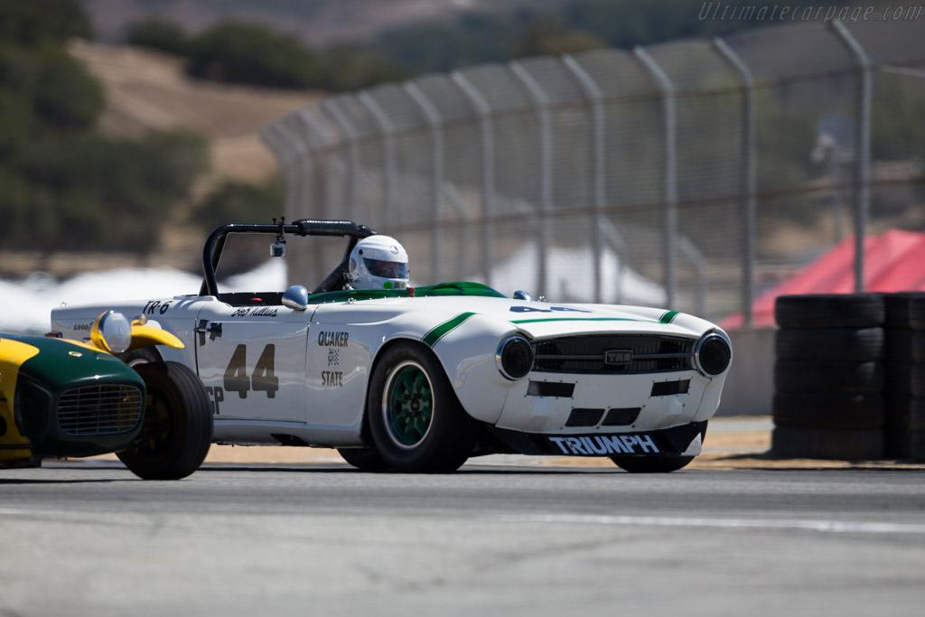 Triumph TR6  - Driver: Bill Warner  - 2015 Monterey Motorsports Reunion
