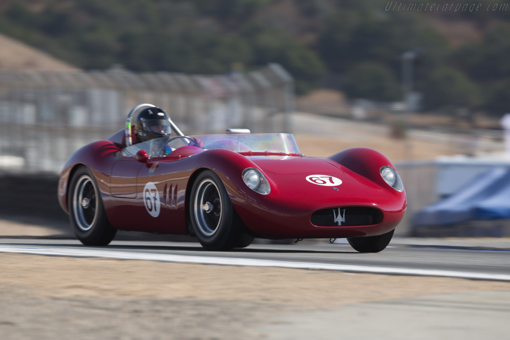 Maserati 200 S - Chassis: 2425 - Driver: Ned Spieker  - 2017 Monterey Motorsports Reunion