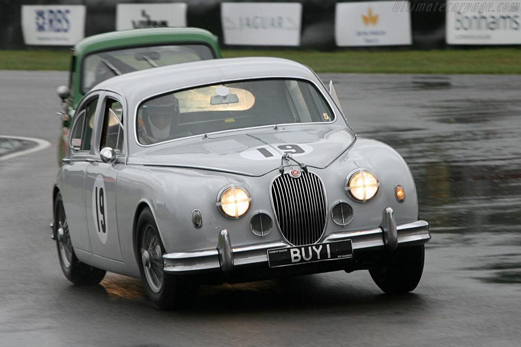 Derek Bell in a Jaguar Mk I    - 2006 Goodwood Revival