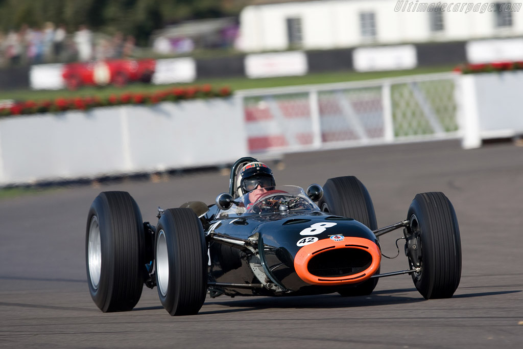 A burn-out from Sir Jackie Stewart    - 2008 Goodwood Revival