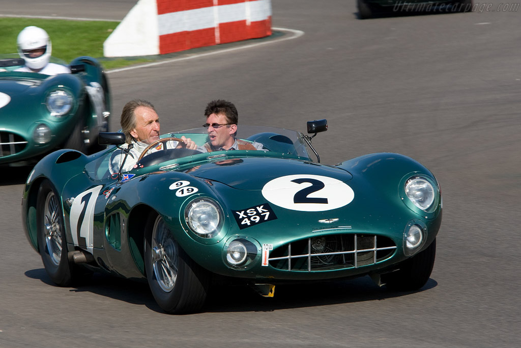 Bell in the DBR1 that Moss and Brooks drove to victory in the 1958 TT - Chassis: DBR1/2   - 2008 Goodwood Revival