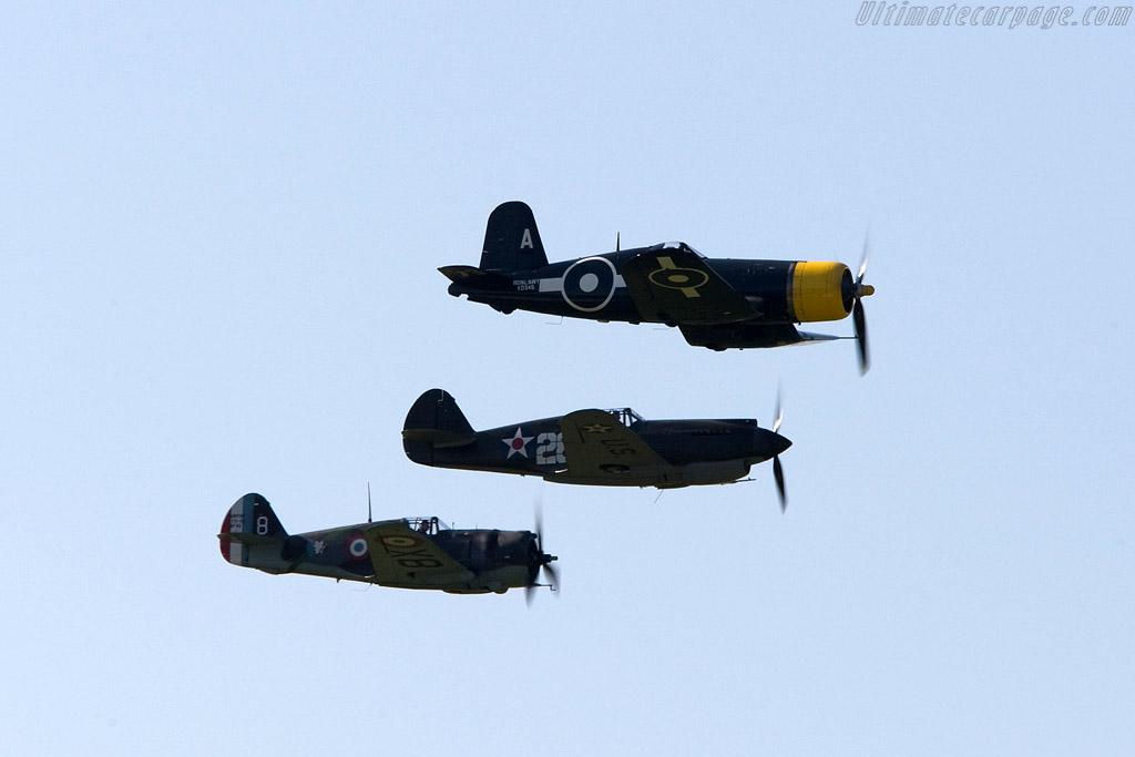 Hawk, Warhawk and Corsair    - 2008 Goodwood Revival