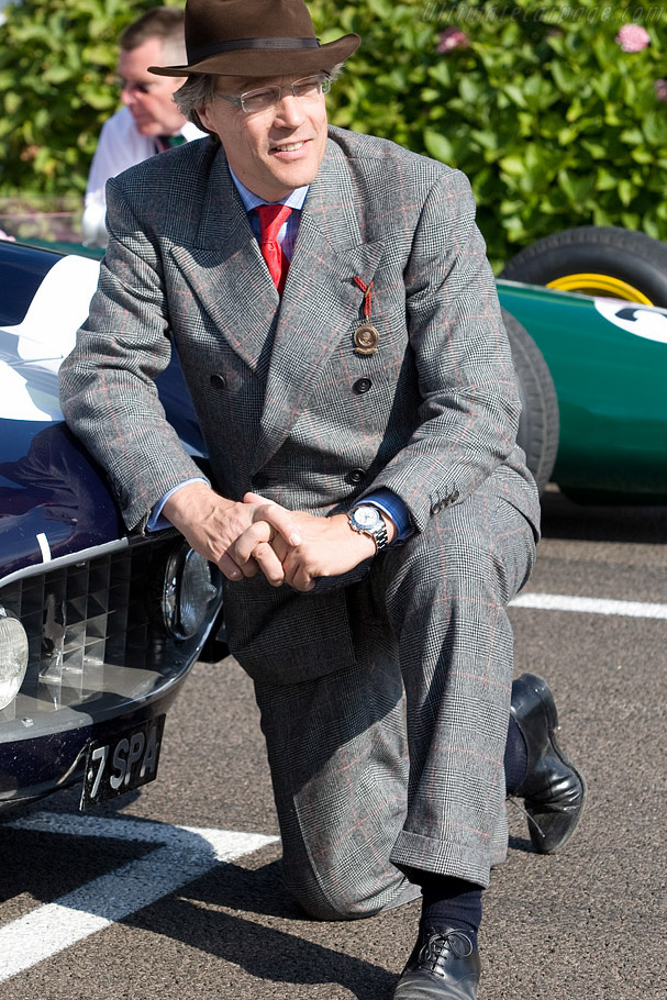 Lord March with the 1960 TT winning Ferrari    - 2008 Goodwood Revival