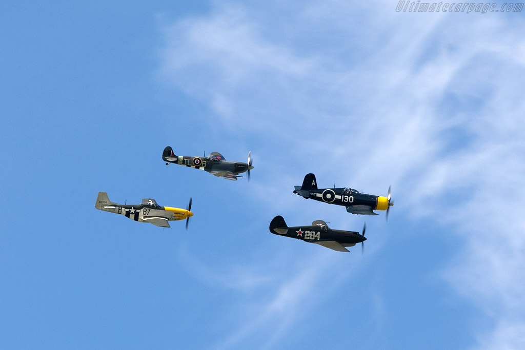 Mustang, Spitfire, Warhawk and Corsair    - 2008 Goodwood Revival