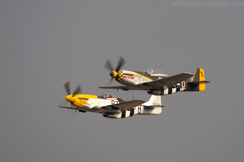 North American P51 Mustangs    - 2009 Goodwood Revival