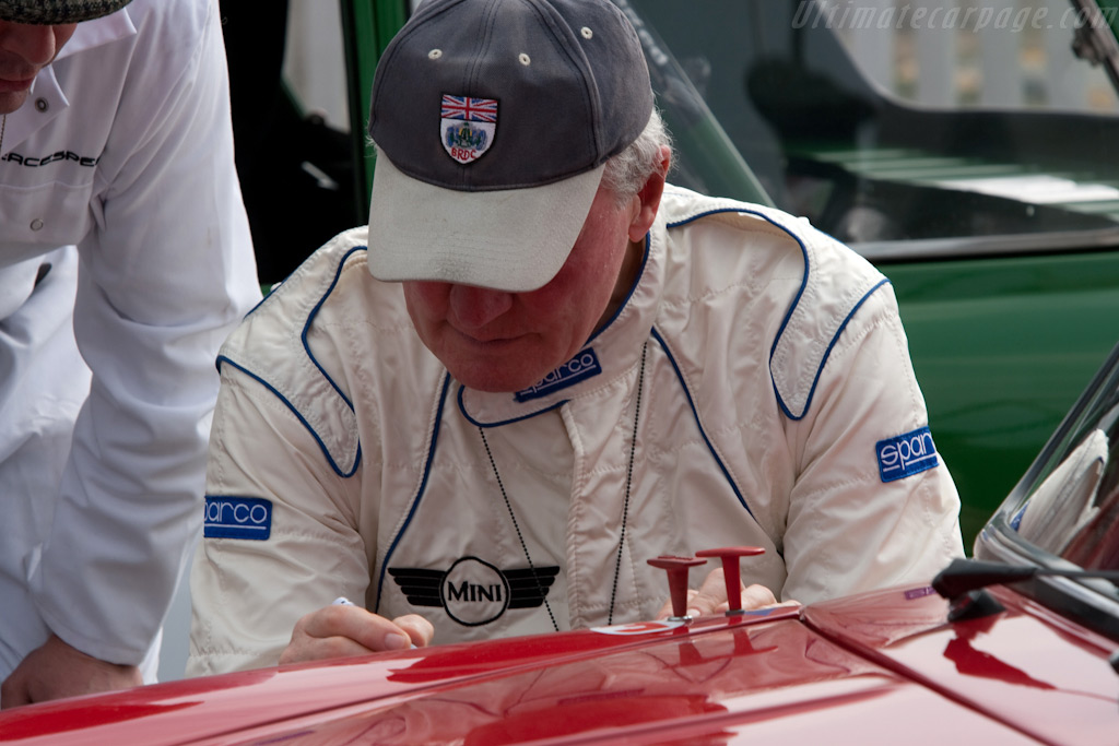 Paddy Hopkirk signs a Mini    - 2009 Goodwood Revival